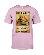 Old Man Motorcycle Don't Stop Riding Classic T-Shirt tile