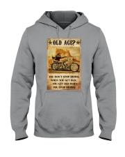 Old Man Motorcycle Don't Stop Riding Hooded Sweatshirt tile