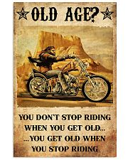 Old Man Motorcycle Don't Stop Riding 24x36 Poster front