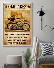Old Man Motorcycle Don't Stop Riding 24x36 Poster lifestyle-poster-1