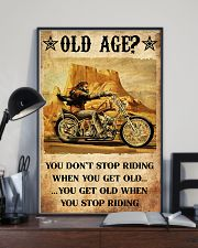 Old Man Motorcycle Don't Stop Riding 24x36 Poster lifestyle-poster-2