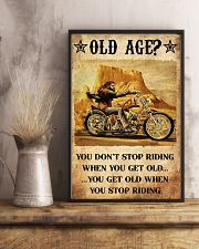 Old Man Motorcycle Don't Stop Riding 24x36 Poster lifestyle-poster-3