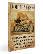 Old Man Motorcycle Don't Stop Riding Gallery Wrapped Canvas Prints tile