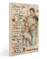 Gay Couple I Choose You Gallery Wrapped Canvas Prints tile