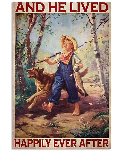 Boy Fishing Dog 1