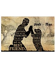Boy And Dog Silhouette 36x24 Poster front