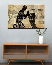 Boy And Dog Silhouette 36x24 Poster poster-landscape-36x24-lifestyle-21
