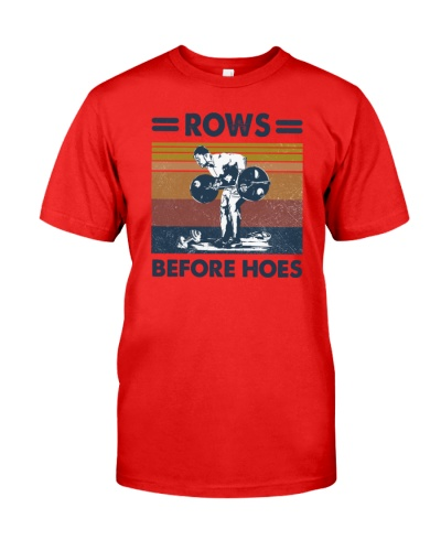 Weightlifting Row Before Hoes