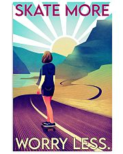 Girl Skate More Worry Less  24x36 Poster front