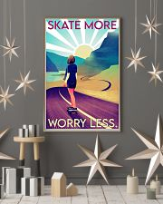 Girl Skate More Worry Less  24x36 Poster lifestyle-holiday-poster-1