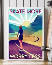 Girl Skate More Worry Less  24x36 Poster lifestyle-poster-4