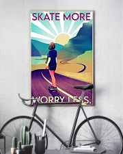 Girl Skate More Worry Less  24x36 Poster lifestyle-poster-7