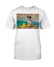 Jack Russel Surf Know Things Classic T-Shirt tile