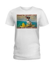 Jack Russel Surf Know Things Ladies T-Shirt tile