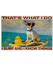 Jack Russel Surf Know Things 36x24 Poster front