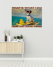 Jack Russel Surf Know Things 36x24 Poster poster-landscape-36x24-lifestyle-01