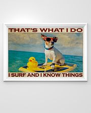 Jack Russel Surf Know Things 36x24 Poster poster-landscape-36x24-lifestyle-02