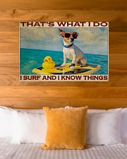 Jack Russel Surf Know Things 36x24 Poster poster-landscape-36x24-lifestyle-23