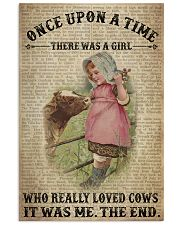 Girl Loved Cows  24x36 Poster front