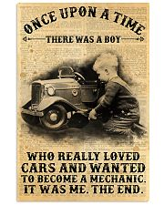 Boy Loved Cars And Wanted To Become A Mechanic  Vertical Poster tile