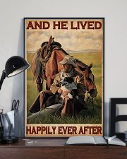 Cowboy Live Happily 24x36 Poster lifestyle-poster-2