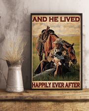 Cowboy Live Happily 24x36 Poster lifestyle-poster-3