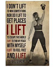Gym Girl I Lift 24x36 Poster front