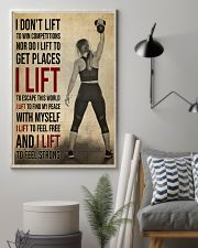 Gym Girl I Lift 24x36 Poster lifestyle-poster-1
