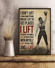 Gym Girl I Lift 24x36 Poster lifestyle-poster-3