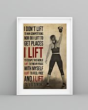 Gym Girl I Lift 24x36 Poster lifestyle-poster-5