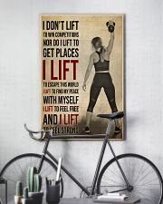 Gym Girl I Lift 24x36 Poster lifestyle-poster-7