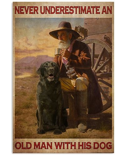 Old Man With Black Lab