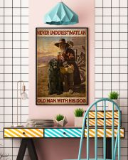 Old Man With Black Lab 24x36 Poster lifestyle-poster-6