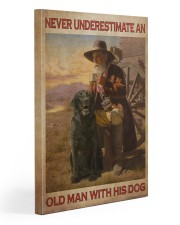 Old Man With Black Lab Gallery Wrapped Canvas Prints tile