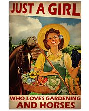 Girl Loves Gardening And Horse Live Happily 2 24x36 Poster front