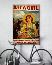 Girl Loves Gardening And Horse Live Happily 2 24x36 Poster lifestyle-poster-7