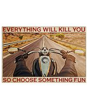 Riding Motorcycle Choose Something Fun 36x24 Poster front