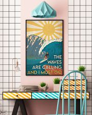 Surfing - The Waves Are Calling 24x36 Poster lifestyle-poster-6