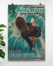 Surfing Girl Better Than You Were 24x36 Poster aos-poster-portrait-24x36-lifestyle-19