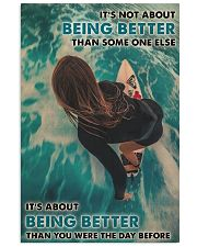 Surfing Girl Better Than You Were 24x36 Poster front