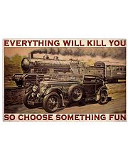 Blue Train Racing Choose Something Fun  36x24 Poster front