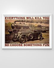 Blue Train Racing Choose Something Fun  36x24 Poster poster-landscape-36x24-lifestyle-02