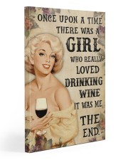 OUAT Girl Loved Drinking Wine 20x30 Gallery Wrapped Canvas Prints thumbnail
