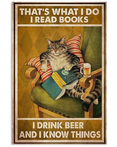 Cat Read Books Drink Beer