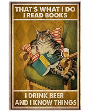 Cat Read Books Drink Beer 24x36 Poster front