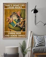 Cat Read Books Drink Beer 24x36 Poster lifestyle-poster-1