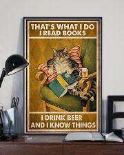 Cat Read Books Drink Beer 24x36 Poster lifestyle-poster-2