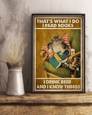 Cat Read Books Drink Beer 24x36 Poster lifestyle-poster-3