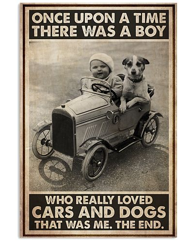 Little Boy Loves Cars And Dogs