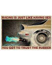 Racing Trust The Rubber 36x24 Poster front